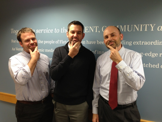 Not to be outdone, the men of Fletcher Allen's Marketing & Communications team are also growing facial hair for Movember/No Shave November!